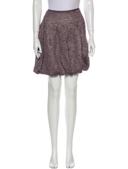 Nina Ricci Silk Mini Skirt Metallic - image 1