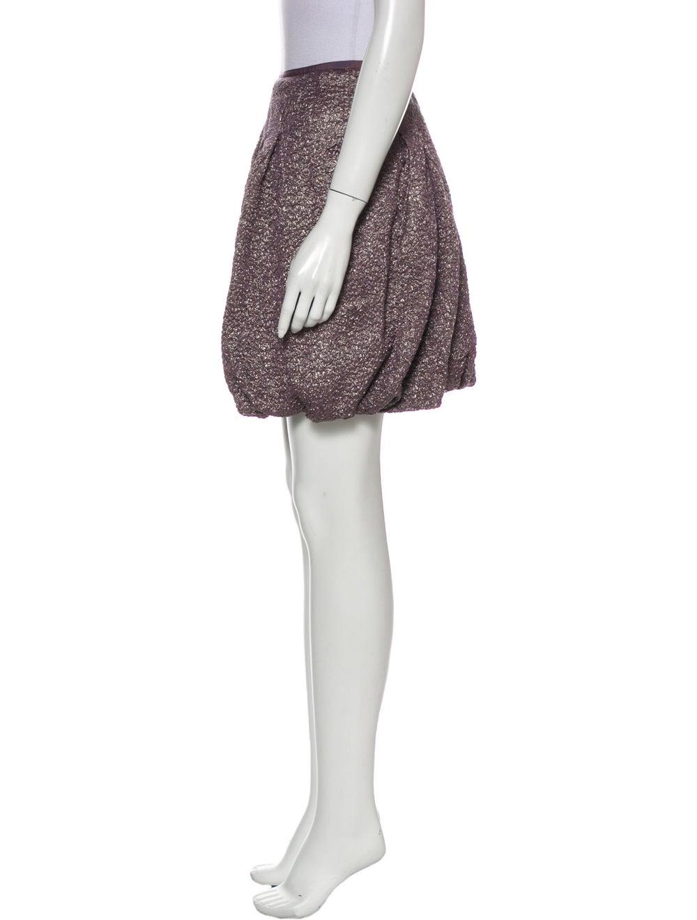 Nina Ricci Silk Mini Skirt Metallic - image 2