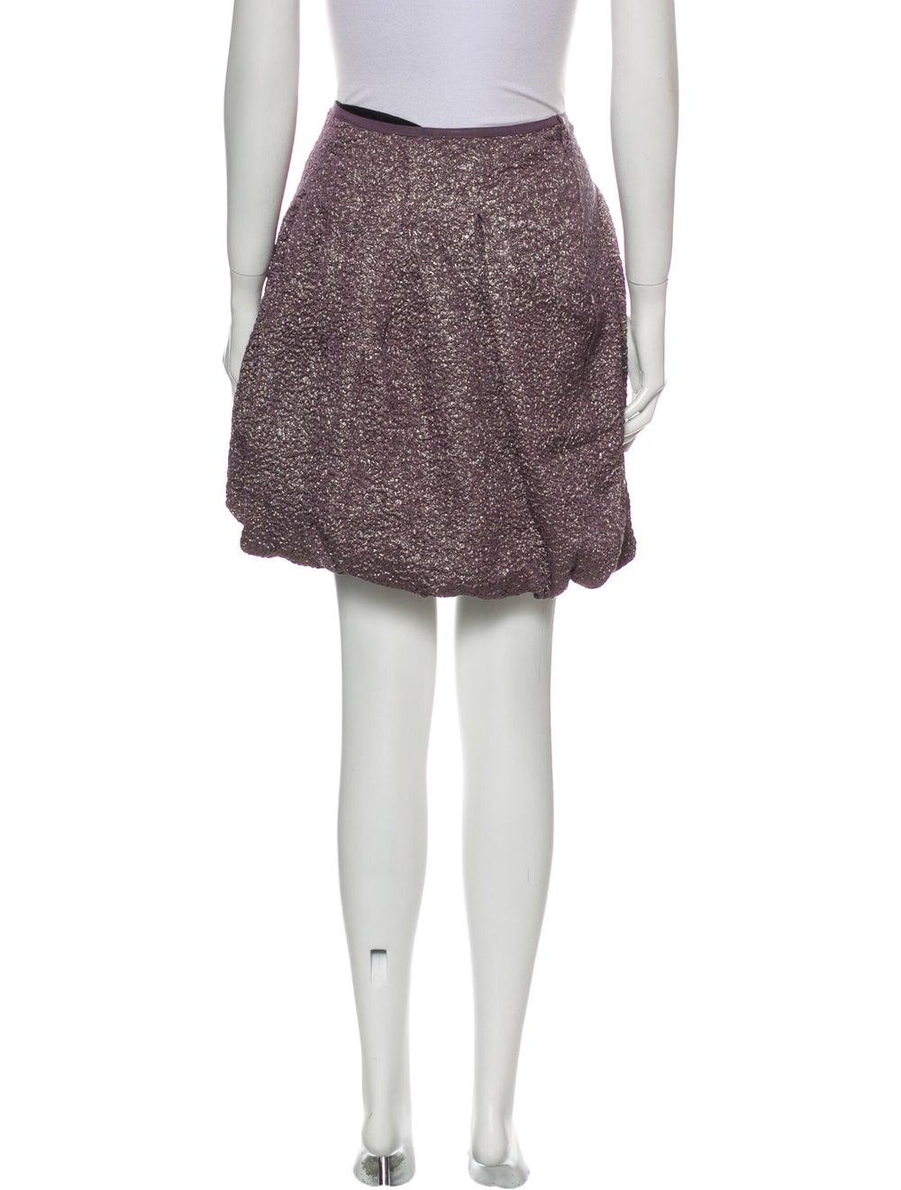 Nina Ricci Silk Mini Skirt Metallic - image 3