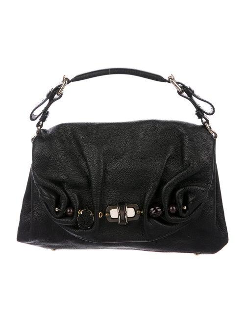 Nina Ricci Grained Leather Handle Bag Black