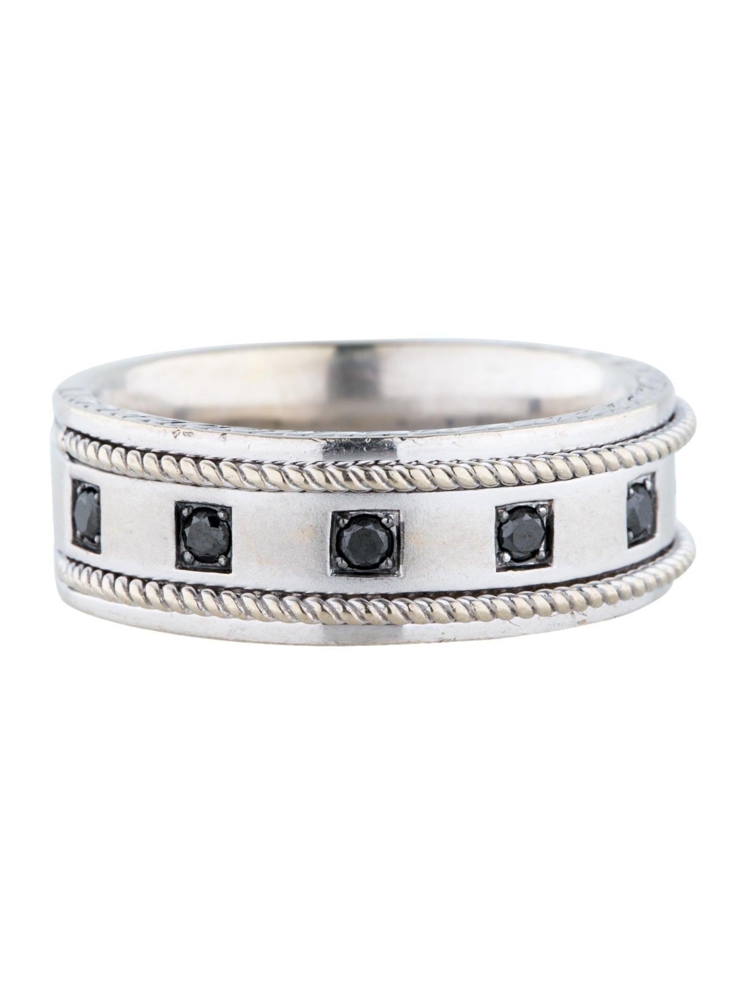 neil lane 14k black diamond band rings nln20012 the realreal