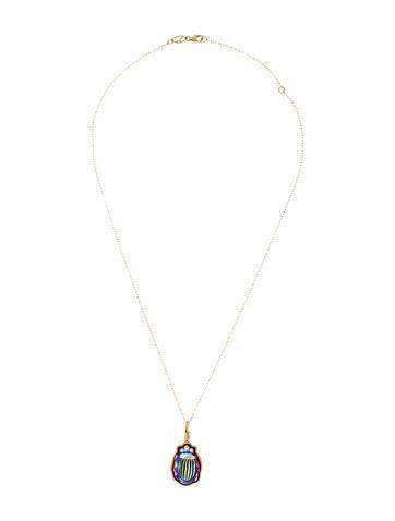 Scarab Diamond Necklace