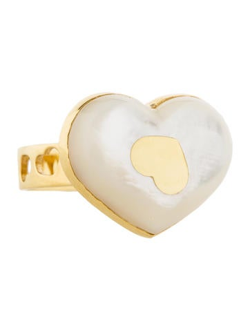 Mother-Of-Pearl Heart Ring