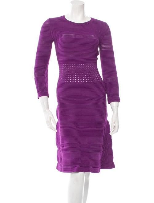 No. 21 Half-Sleeve Flared Dress Violet