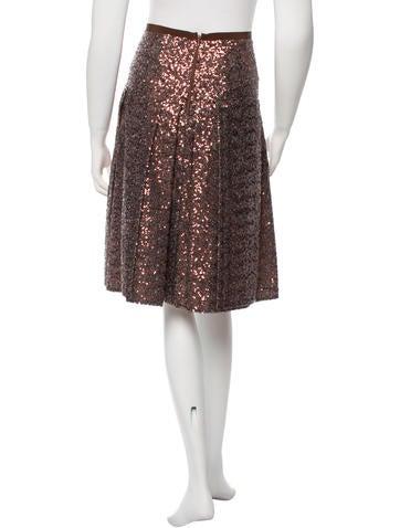 Embellished Knee-Length Skirt