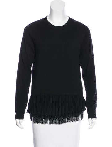 No. 21 Fringe-Accented Virgin Wool Top w/ Tags None