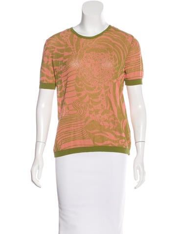 No. 21 Patterned Knit Top None