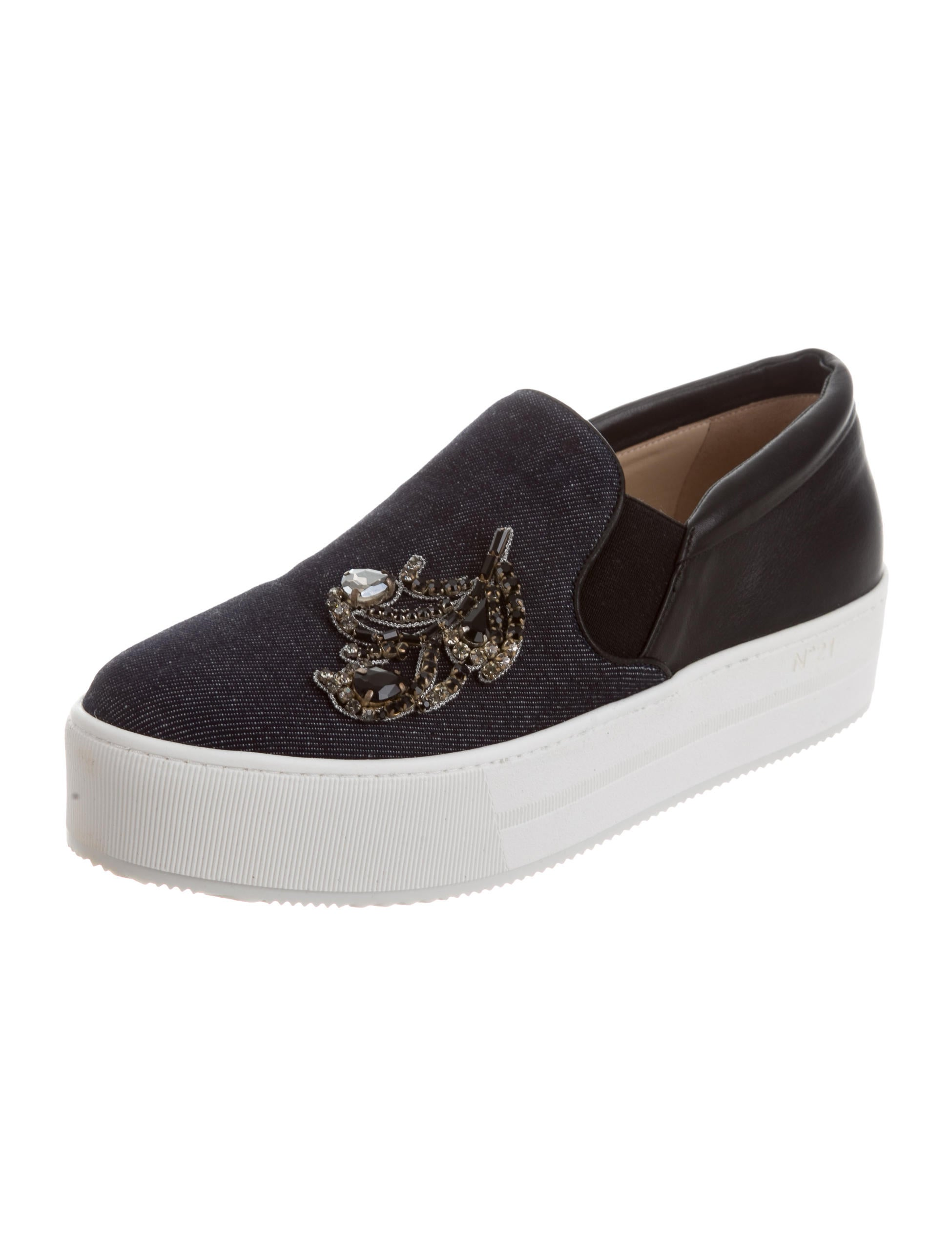 no 21 denim slip on sneakers w tags shoes no220967