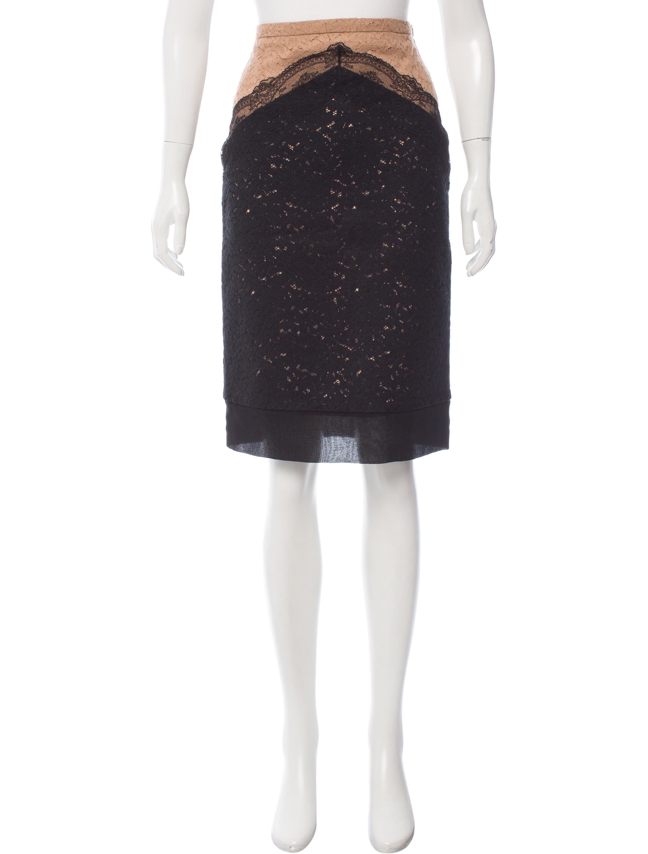 no 21 lace pencil skirt clothing no221192 the realreal