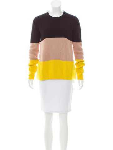 No. 21 Contrast Silk-Trimmed Sweater None
