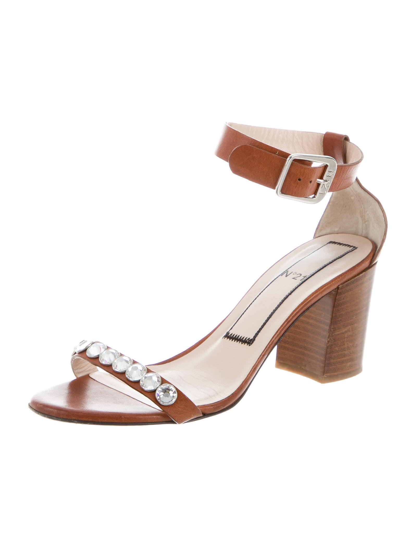 No. 21 Embellished Ankle Strap Sandals visit new online free shipping big discount discount footlocker pictures sale for sale A6UcI