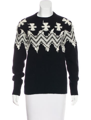 No. 21 Knit Long Sleeve Sweater None