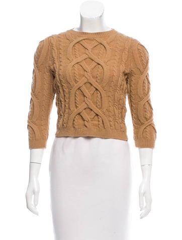 No. 21 Wool-Blend Cropped Sweater None