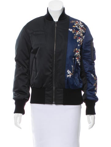 No. 21 Embroidered Bomber Jacket None