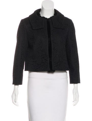 No. 21 Lace Mink-Trimmed Jacket None