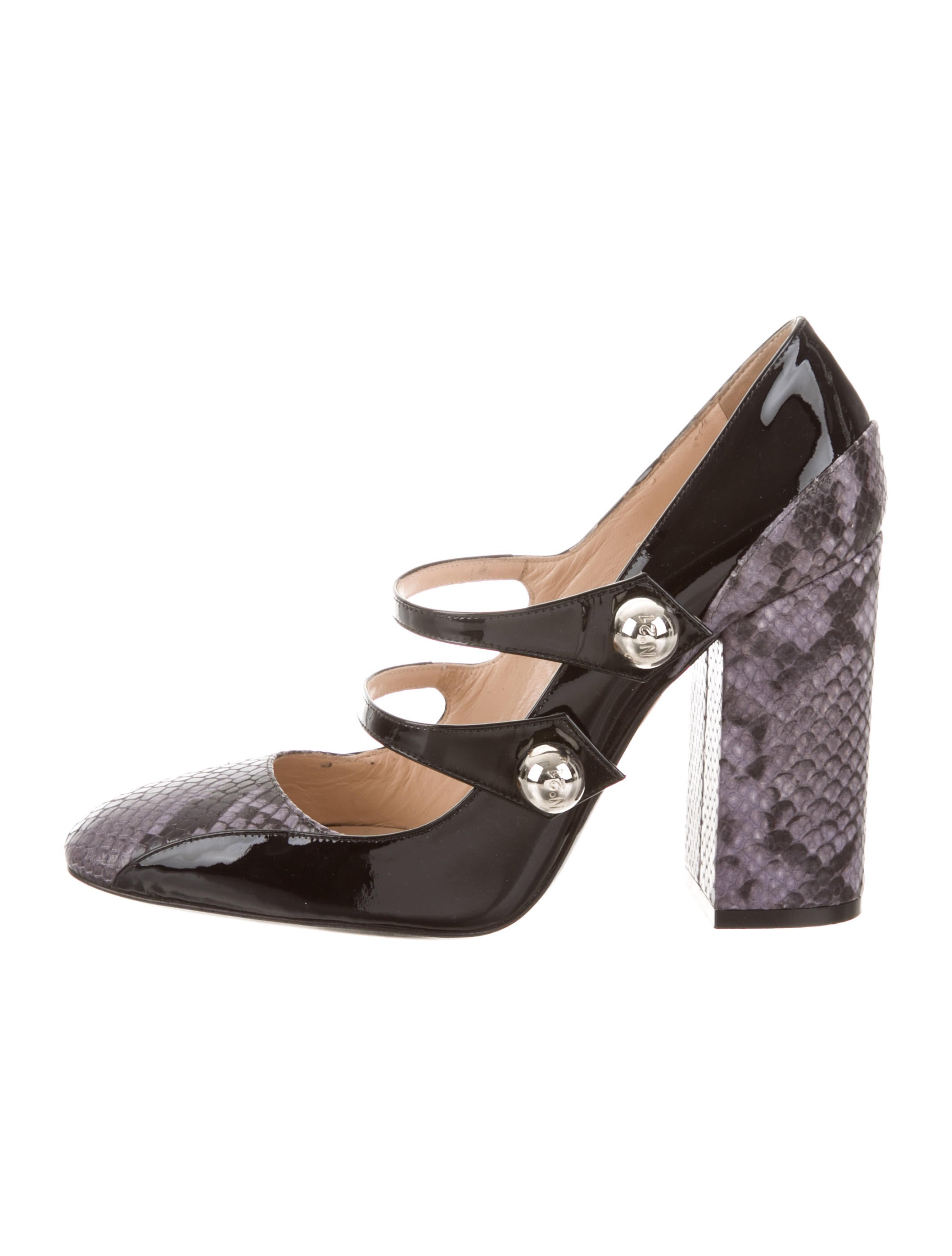clearance finishline No. 21 Patent Leather Multistrap Pumps sale for sale cheap price store sale nicekicks SAxiPsHrt
