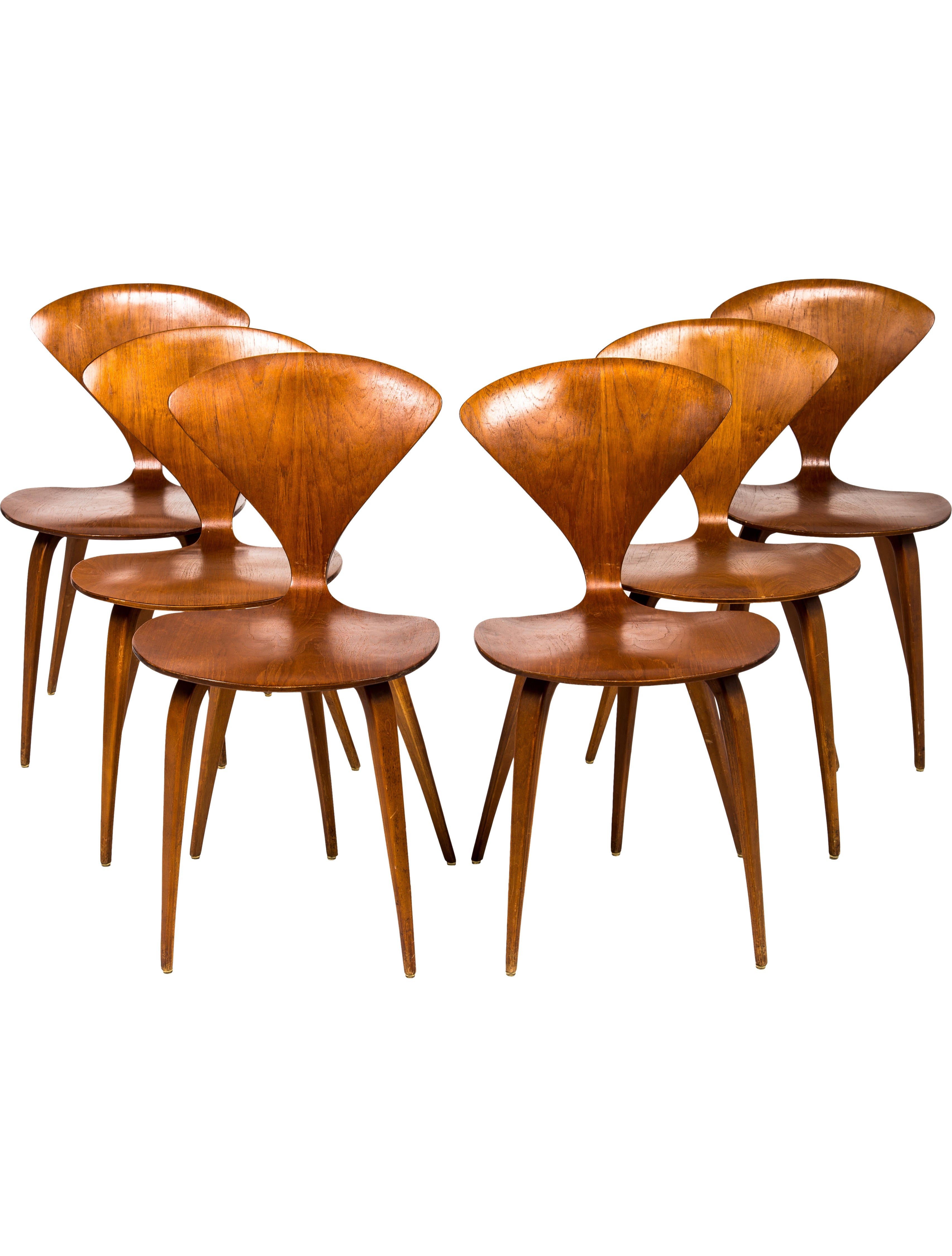 Set Of 6 Plycraft Cherner Side Chairs