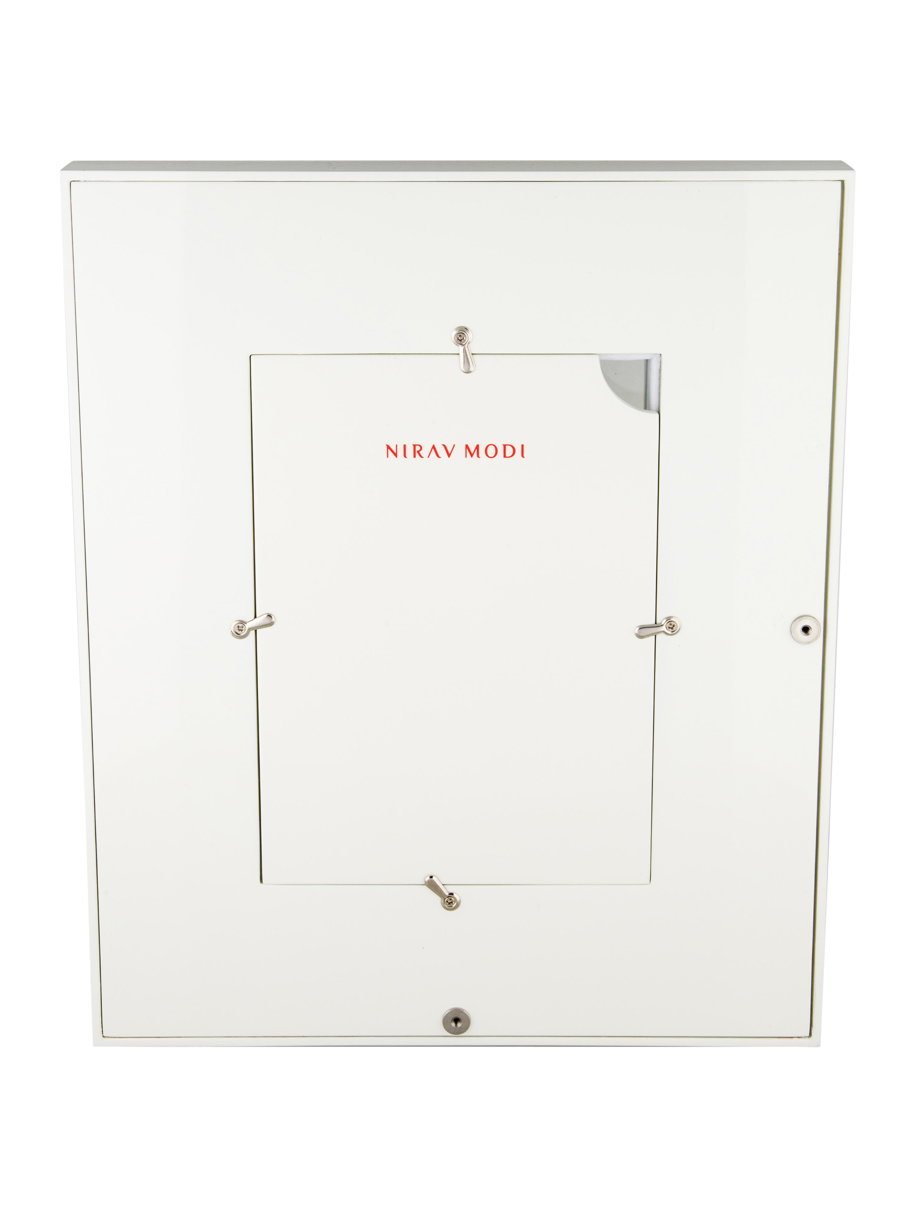 White Lacquered Wood Picture Frame