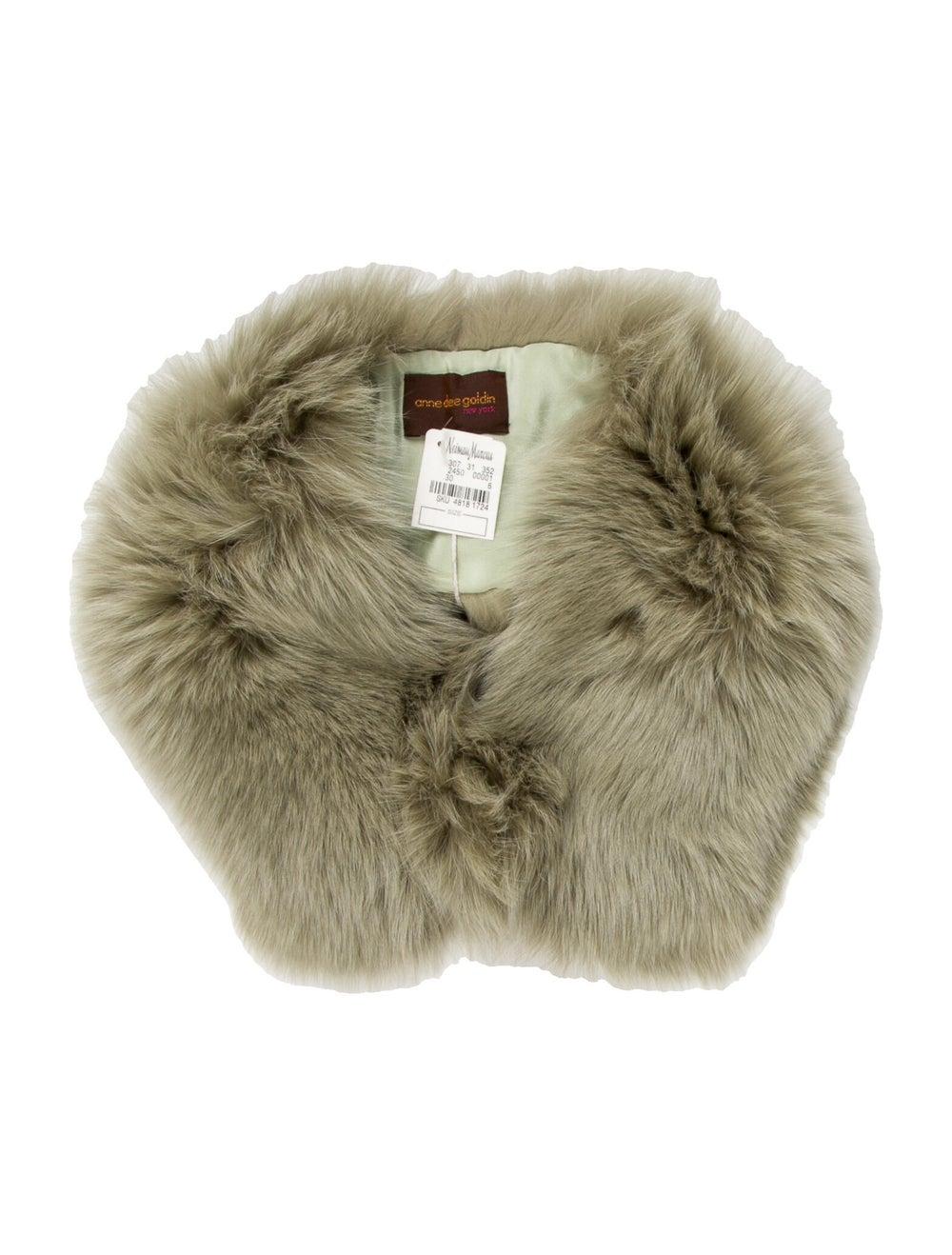 Anne Dee Goldin Fox Fur Stole Fur Stole Green - image 1