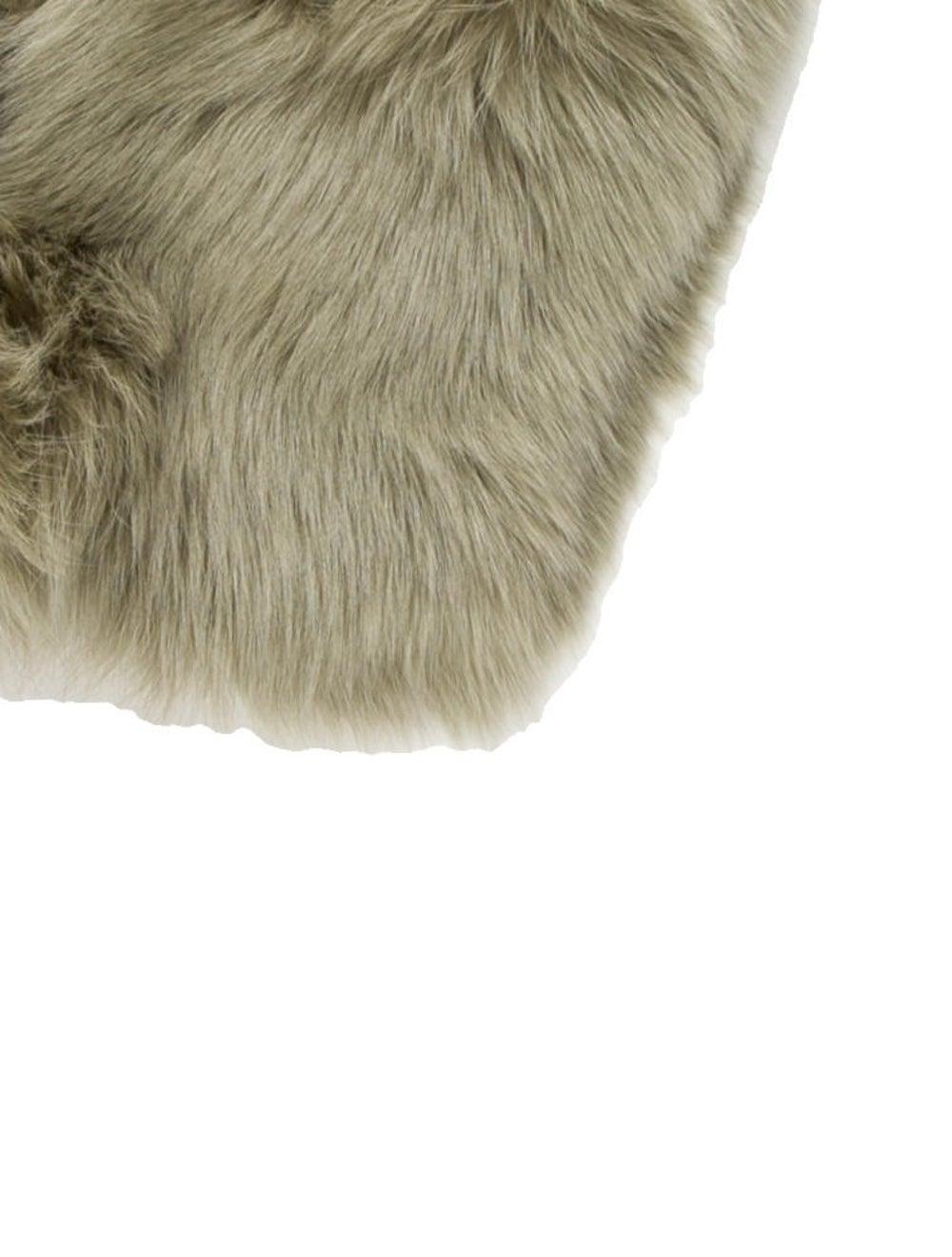Anne Dee Goldin Fox Fur Stole Fur Stole Green - image 2