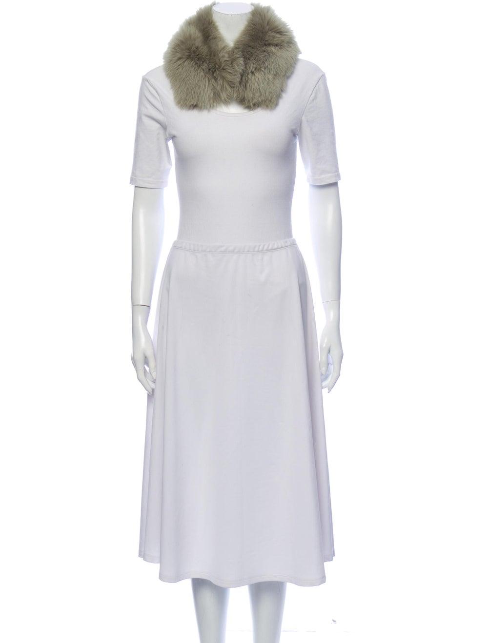 Anne Dee Goldin Fox Fur Stole Fur Stole Green - image 3