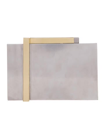 Bicolor Box Clutch