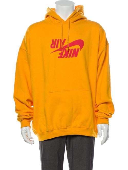 Nike x Travis Scott Graphic Print V-Neck Hoodie Ye