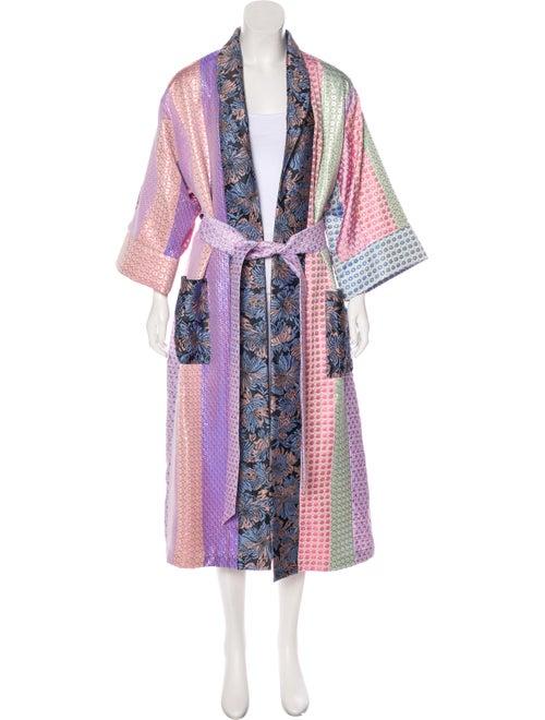Natasha Zinko Patchwork Brocade Robe Pink