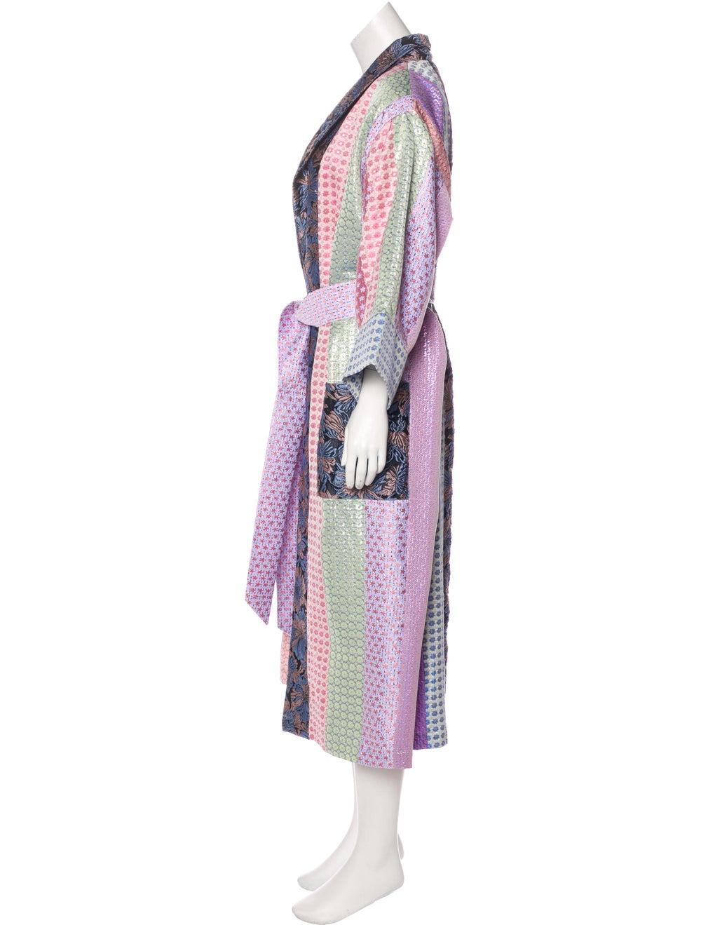 Natasha Zinko Patchwork Brocade Robe Pink - image 2