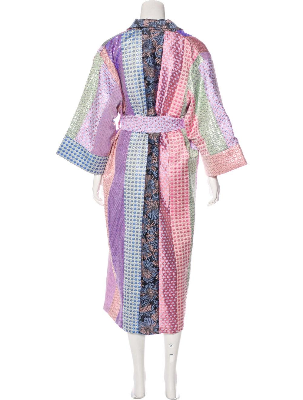 Natasha Zinko Patchwork Brocade Robe Pink - image 3