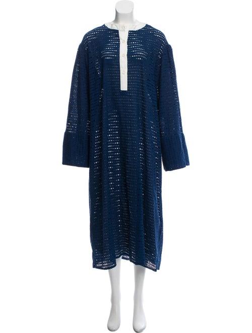 Natasha Zinko Oversized Maxi Dress Blue