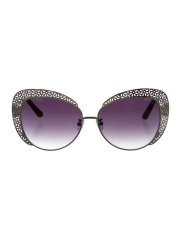 Oscar de la Renta x Linda Farrow Filigree Cat-Eye Sunglasses