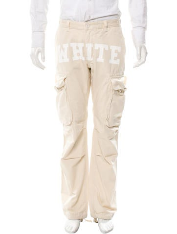 white cargo pants white mil cargo clothing off20017 the realreal 10233