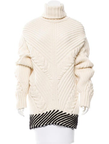Off-White Virgin Wool Cable Knit Sweater w/ Tags None