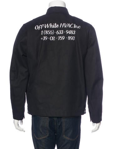 Off-White 2017 Embroidered Work Jacket W/ Tags - Clothing - OFF20316 | The RealReal