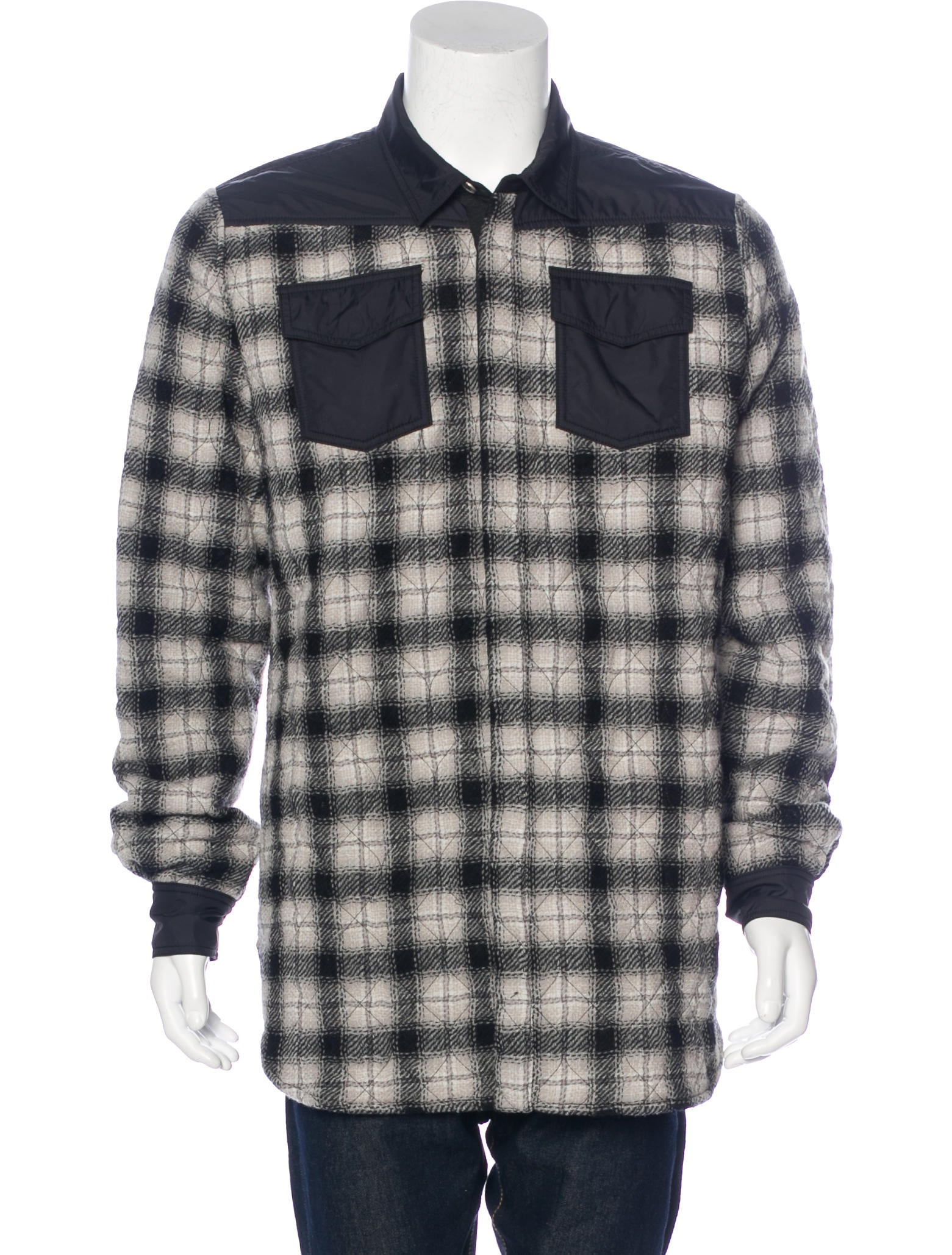 Off white quilted flannel shirt jacket w tags clothing for Flannel shirt and vest