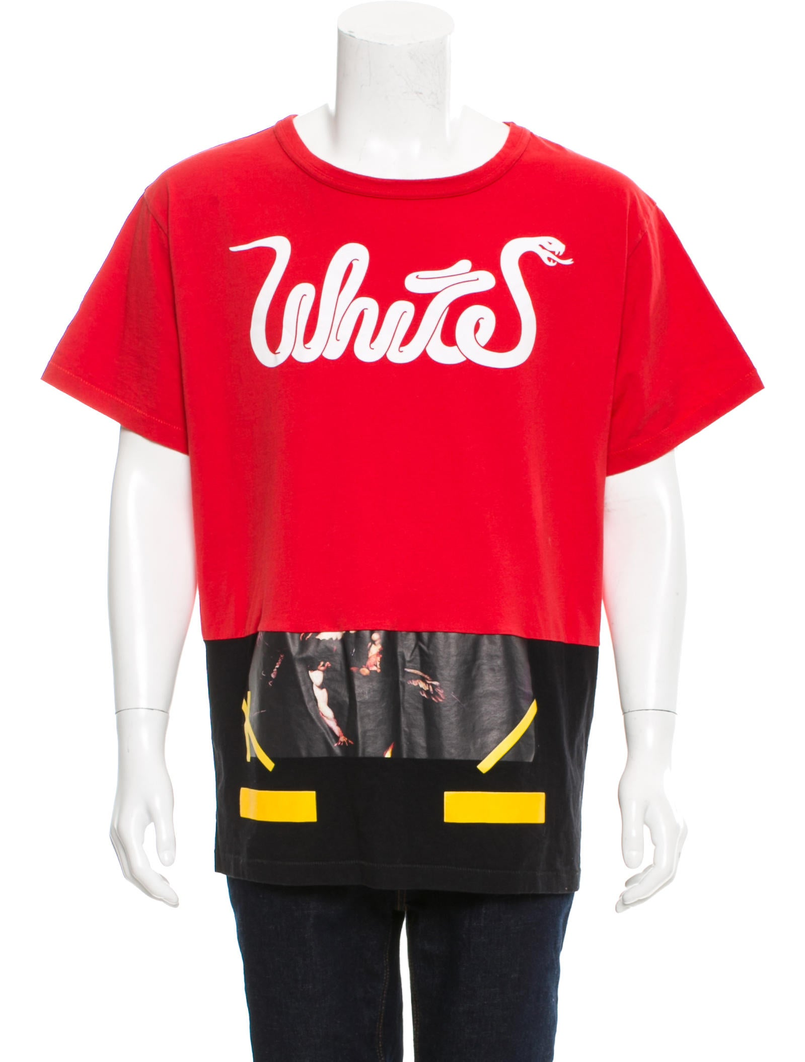 Off white patchwork graphic print t shirt clothing for T shirt graphic printing
