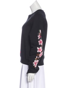 5e5852815cd9 Off-White. Embroidered Long Sleeve Sweatshirt