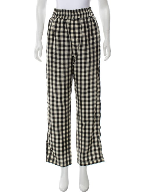 Off-White Gingham Print High-Rise Pants w/ Tags Be