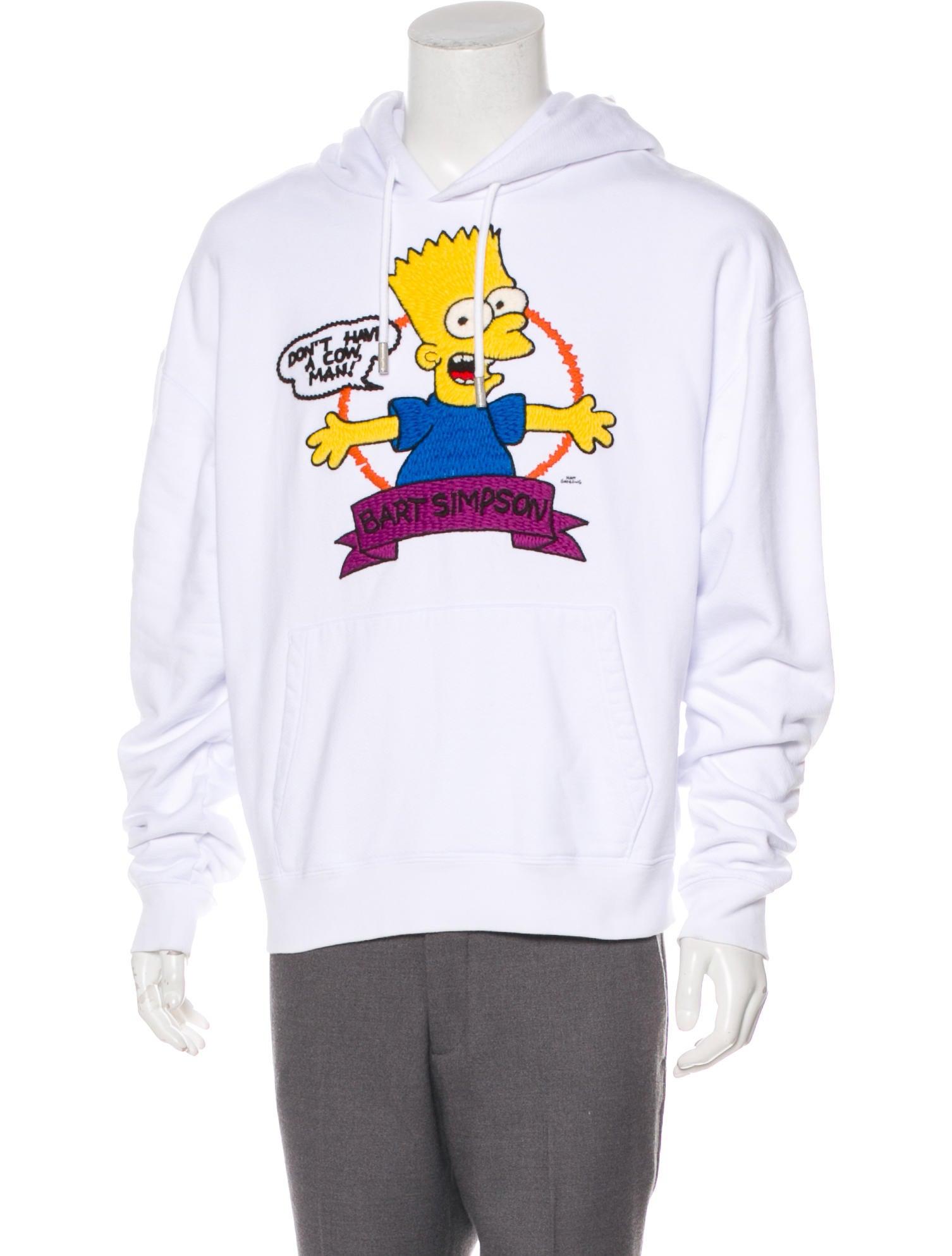 Bart Represent Hooded Sweatshirt Simpsons