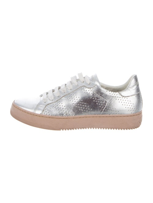 Off-White Leather Sneakers White