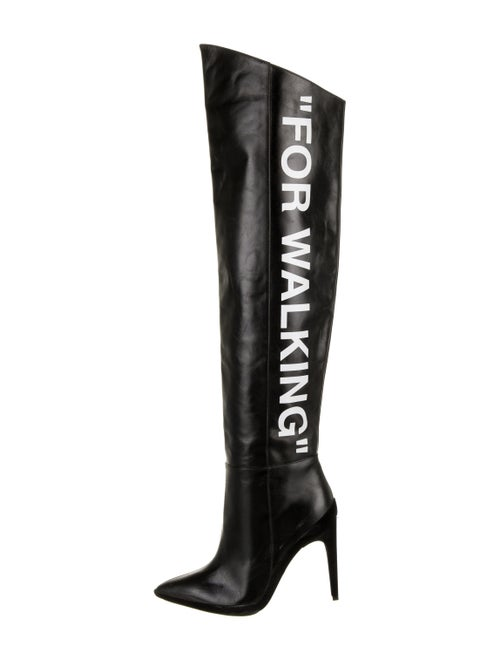 Off-White Leather Boots White