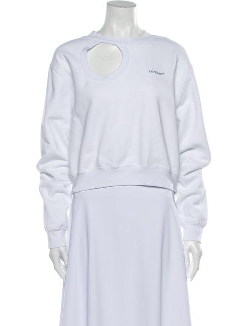 Off-White Crew Neck Long Sleeve Sweatshirt White