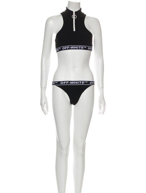 Off-White 2019 Graphic Print Bikini White