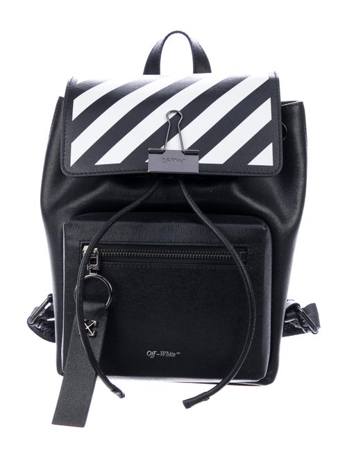 Off-White Diagonal Binder Backpack White