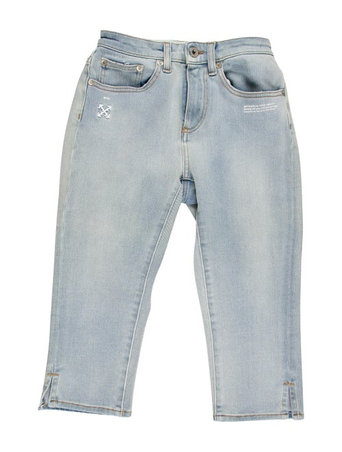 Off-White Mid-Rise Straight Leg Jeans w/ Tags Whit
