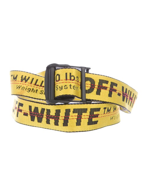 Off-White Industrial Tape Belt yellow - image 1