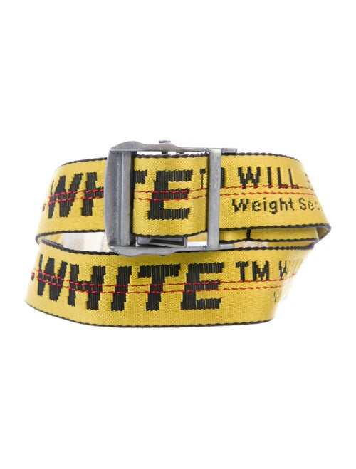 Off-White Industrial Tape Belt yellow