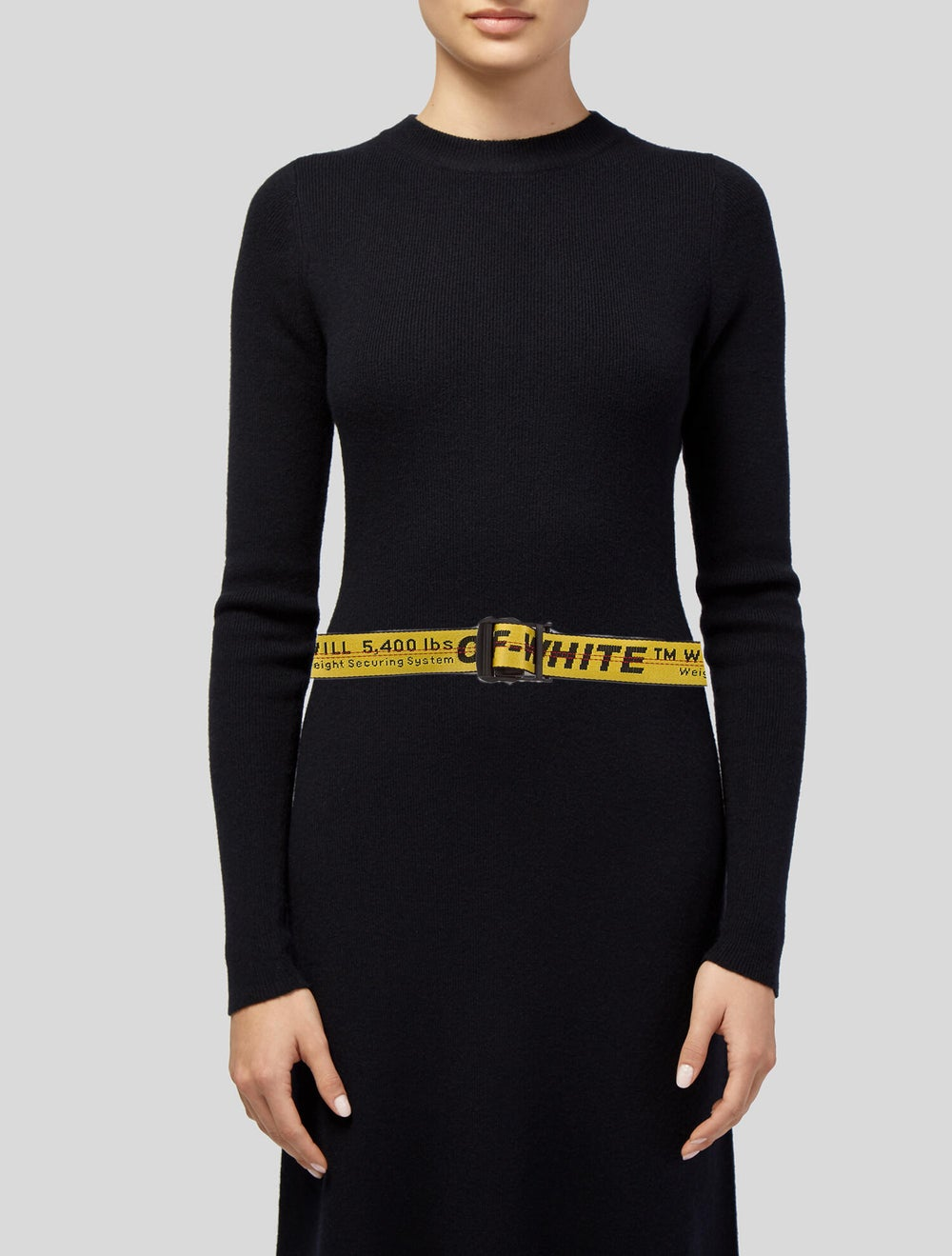 Off-White 2018 Industrial Logo Belt Yellow - image 2