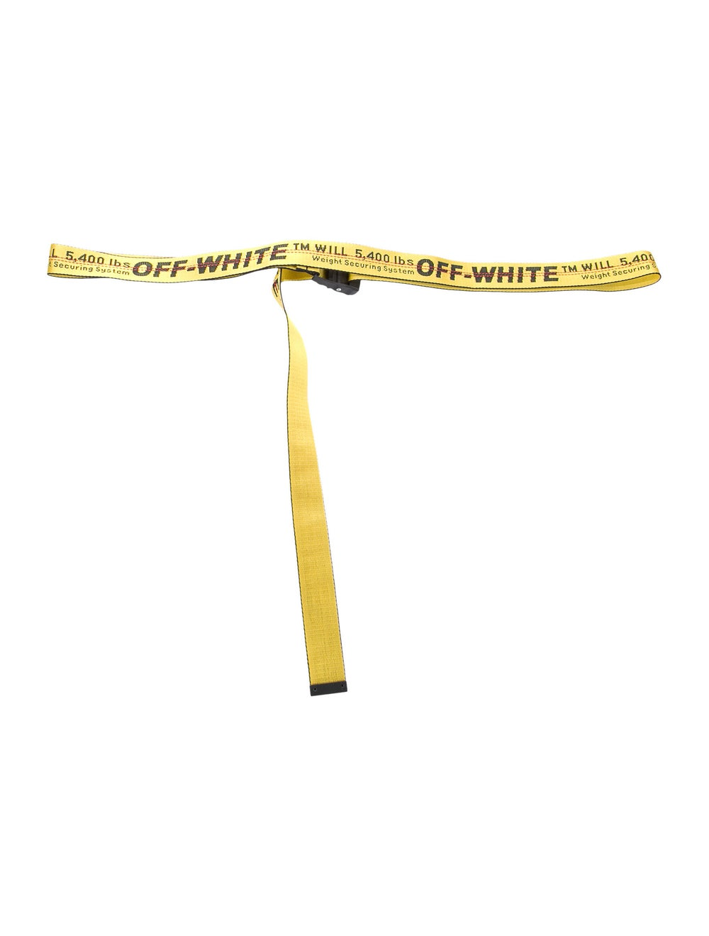Off-White 2018 Industrial Logo Belt Yellow - image 3